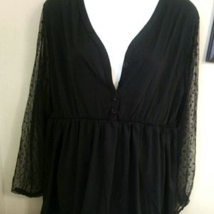 4 FOR 30 SALE Maternity top lace arms button  xl